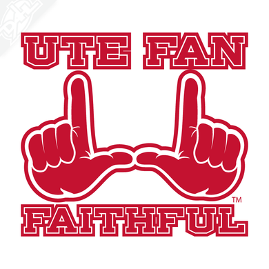 Utah Fan Fiathful Vinyl Decal
