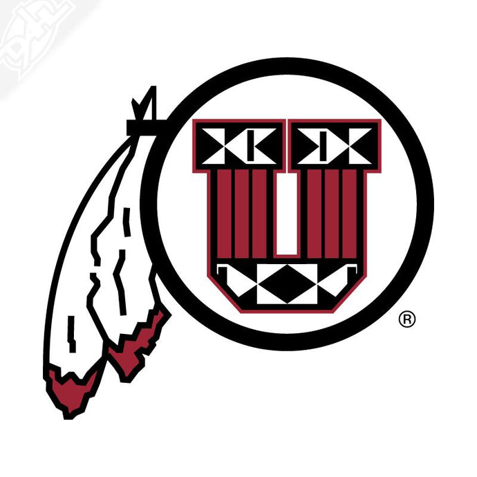 Ute Proud Circle and Feather Vinyl Decal
