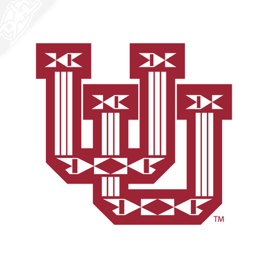 Ute Proud Interlocking UU Single Color Vinyl Decal