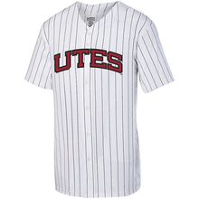 Load image into Gallery viewer, Pinstripe Full Button Baseball Jersey