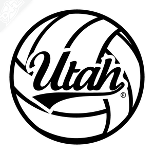 Utah Volley  Volleyball Vinyl Decal