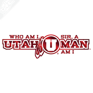 Utah Man - Who am I sir? Vinyl Decal