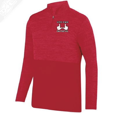 Ute Fan Faithful  - Heather 1/4 Zip Pullover