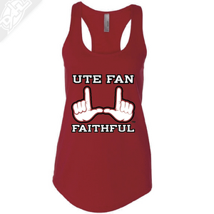 Ute Fan Faithful  - Womens Tank Top