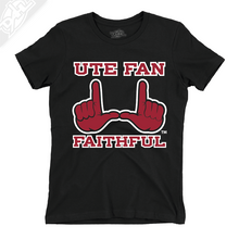 Load image into Gallery viewer, Ute Fan Faithful  - Womens T-Shirt