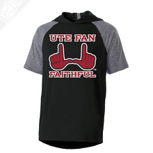 Load image into Gallery viewer, Ute Fan Faithful  - Echo Short Sleeve Hoodie