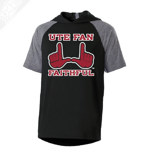 Ute Fan Faithful  - Echo Short Sleeve Hoodie
