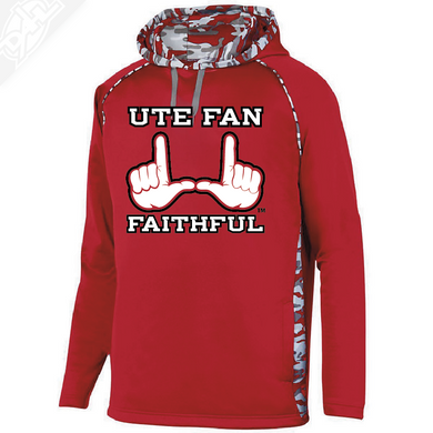 Ute Fan Faithful  - Red Mod Camo Hoodie