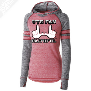 Ute Fan Faithful  - Womens Red Advocate Hoodie