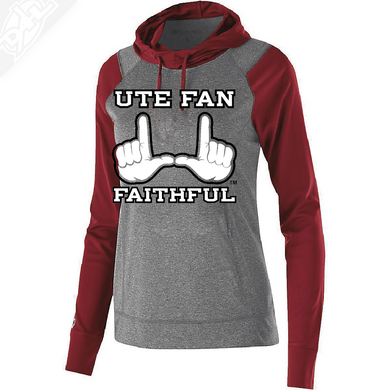 Ute Fan Faithful  - Womens Echo Hoodie