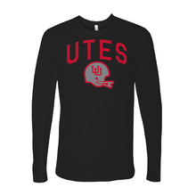 Load image into Gallery viewer, Utes Gray Throwback Helmet - Long Sleeve
