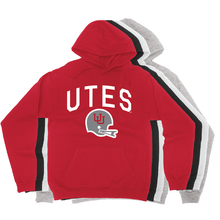Load image into Gallery viewer, Utes Gray Throwback Helmet - State -  Hoodie