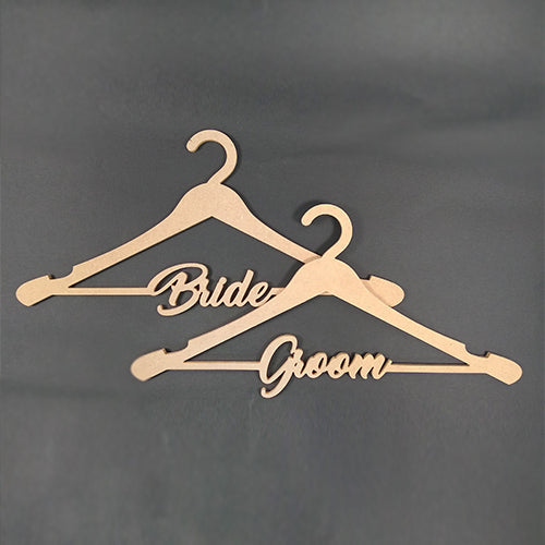 Wedding Hanger set For Bride & Groom / Couple Hanger