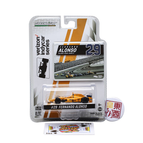 GreenLight 1:64 2017 #29 Fernando Alonso / McLaren-Honda-Andretti Diecast Model Car 10794