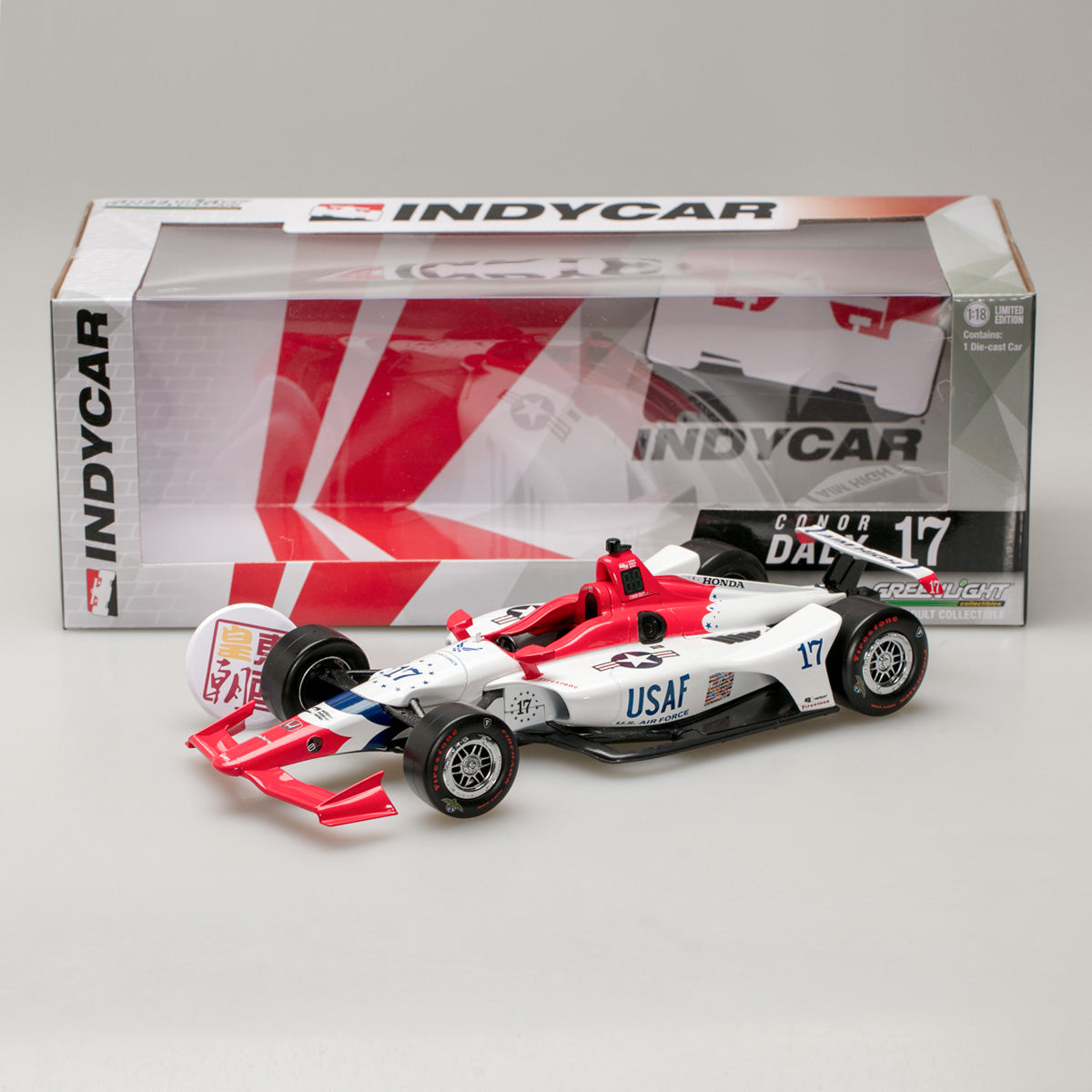 GreenLight 1:18 2018 #17 Conor Daly / Dale Coyne Racing with Thom Burns Racing, U.S. Air Force 11045
