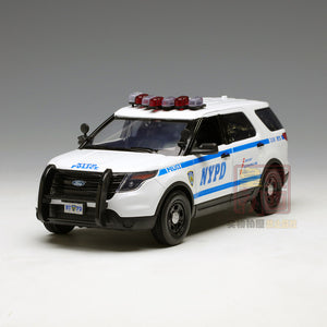 GreenLight 1:18 2015 Ford Police Interceptor Utility New York City Police Department (NYPD) Diecast Model Car 12973