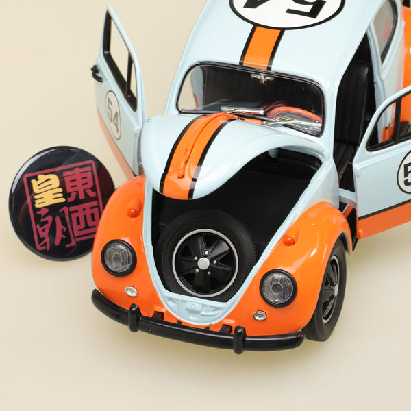 GreenLight 1:18 Volkswagen Beetle - Gulf Oil Racer Diecast Model Car 12994