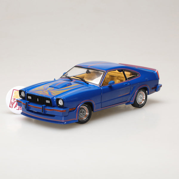 GreenLight 1:18 1978 Ford Mustang II King Cobra - Blue, Red and Gold 13507