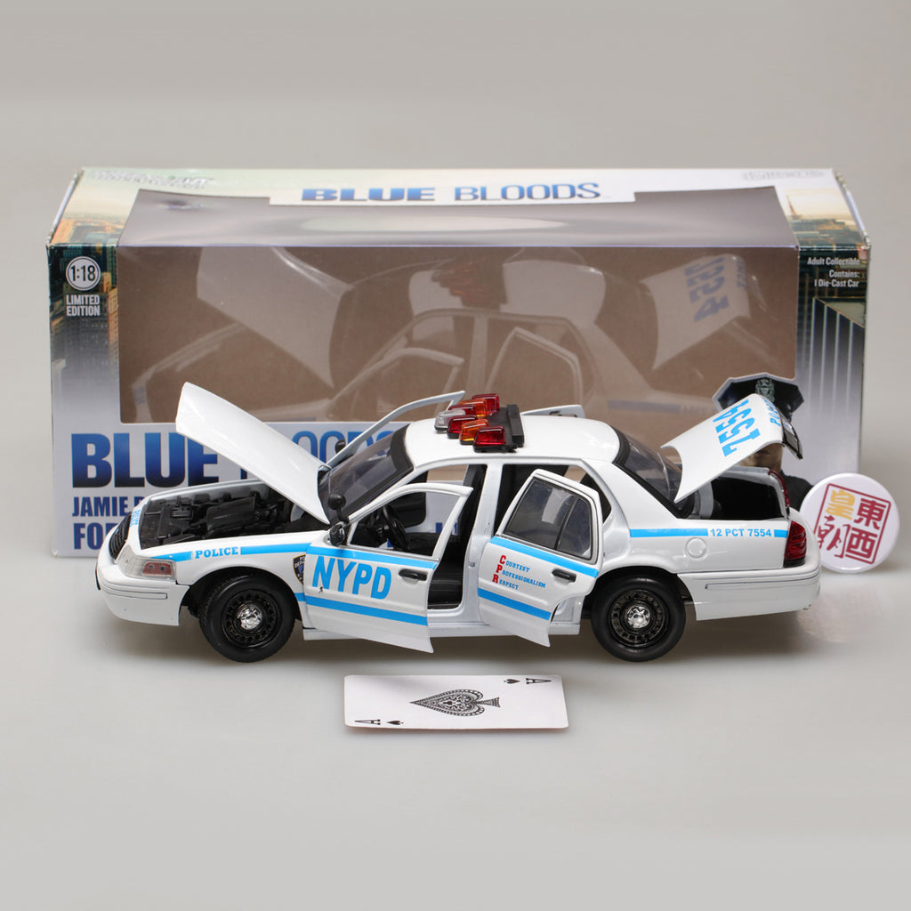 GREENLIGHT 13513 BLUE BLOODS JAMIE REAGAN/'S 2001 FORD VICTORIA POLICE NYPD 1//18