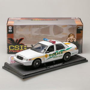 GreenLight 1:18 CSI: Miami (2002-2012 TV Series) - 2003 Ford Crown Victoria Police Interceptor Miami-Dade Police 13514