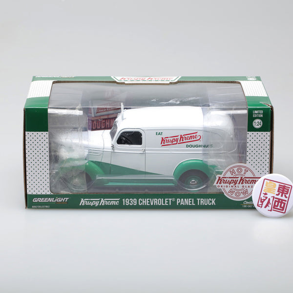 "GreenLight 1:24 Running on Empty - 1939 Chevrolet Panel Truck ""Krispy Kreme Doughnuts"" 18240"