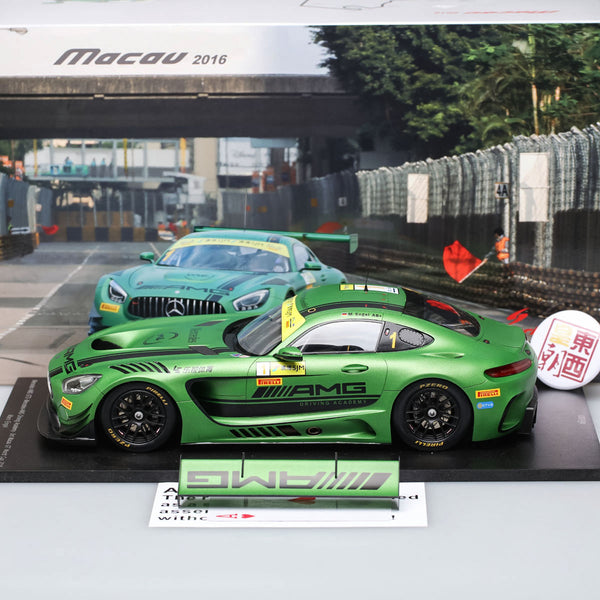 SPARK 1:18 Mercedes AMG GT3 Macau GT World Cup 2016 Angel #1 Resin Model Car 18SA006