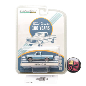 GreenLight  1:64 Anniversary Collection Series 5 - 1967 Ford F-100 Ford Trucks 100 Years Diecast Model Car 27920-B