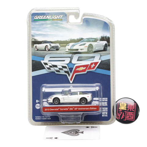 GreenLight 1:64 Anniversary Collection Series 5 - 2013 Chevrolet Corvette Z06 60th Anniversary Edition Diecast Model Car 27920-C