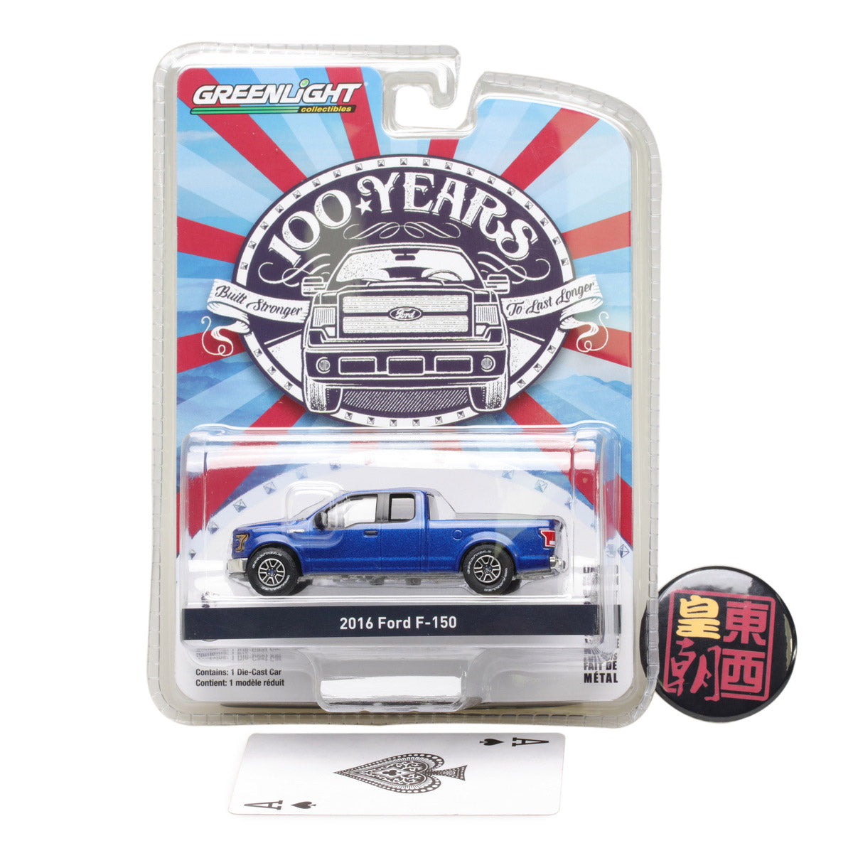 GreenLight 1:64 Anniversary Collection Series 5 - 2016 Ford F-150 Ford Trucks 100 Years Diecast Model Car 27920-E