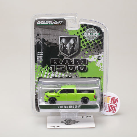 GreenLight 1:64 2017 Dodge Ram 1500 Sport - Sublime Green Pearl Coat Special Edition 29927