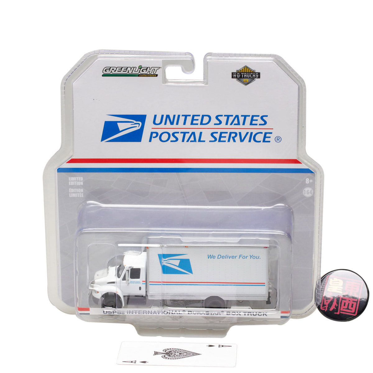 GreenLight 1:64 H.D. Trucks Series 9 - 2013 International Durastar Box Van - United States Postal Service (USPS) Diecast Model Car 33090-B