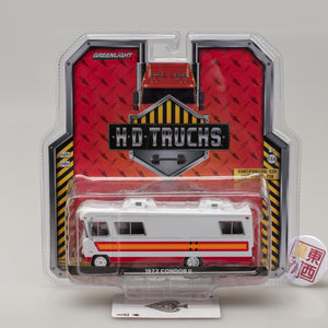 GreenLight 1:64 H.D. Trucks Series 13 - 1972 Condor II RV - White with Orange, Red and Maroon Stripes 33130-B