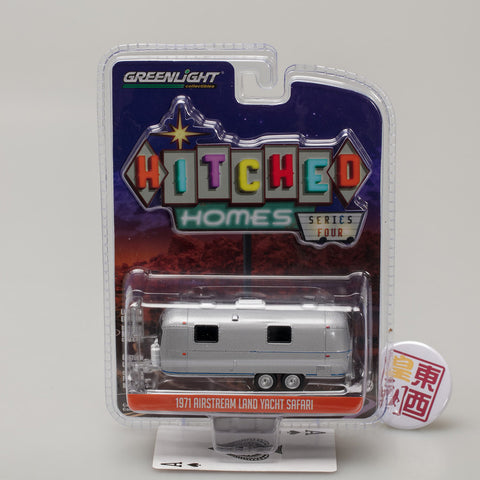 GreenLight 1:64 Hitched Homes Series 4 - 1971 Airstream Double-Axle Land Yacht Safari 34040-B