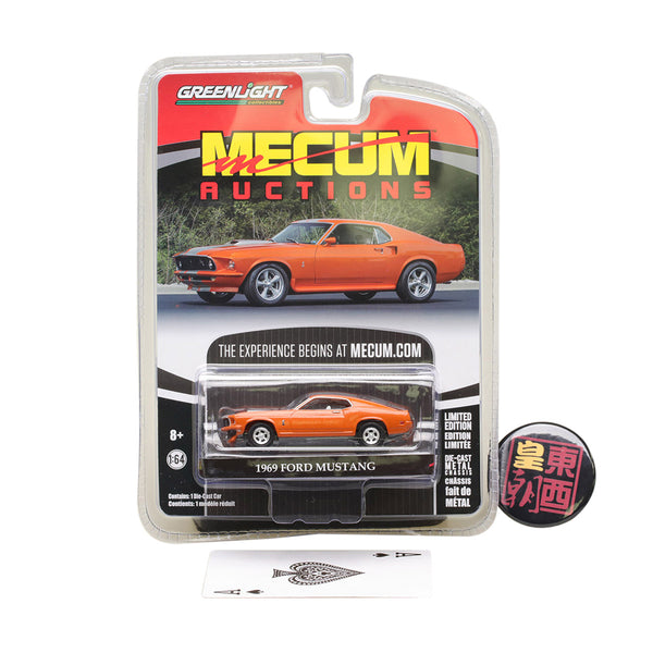 GreenLight 1:64 Mecum Auctions Collector Cars Series 1 - 1969 Ford Mustang Resto Mod Diecast Model Car 37110-A