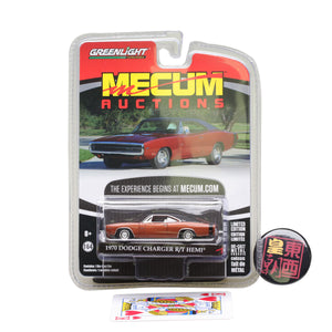 GreenLight 1:64 Mecum Auctions Collector Cars Series 1 - 1970 Dodge HEMI Charger R/T - Bronze Diecast Model Car 37110-C