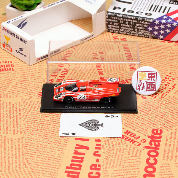 SPARK 1:43 Porsche 917 K, No.23, Winner Le Mans 1970 Attwood - Herrmann Resin Model Car 43LM70
