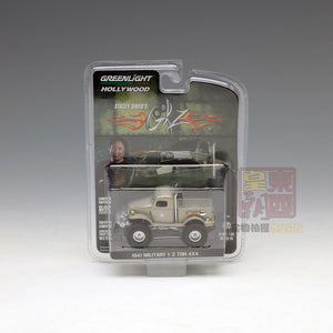 "GreenLight 1:64 Hollywood - Stacey David's Gearz (2007-Current TV Series) - 1941 Military 1/2 Ton 4x4 Pickup Truck ""Sgt. Rock"" 44750-D"