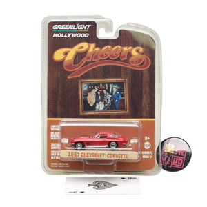GreenLight 1:64 Hollywood Series 17 - Cheers (1982-93 TV Series) - Sam's 1967 Chevrolet Corvette Sting Ray Diecast Model Car 44770-B
