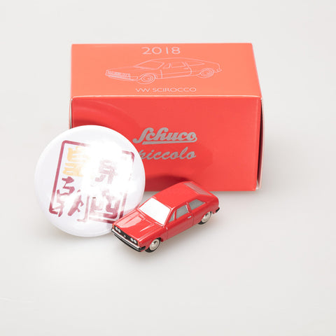 SCHUCO 1:90 Model of the year 2018 Volkswagen  Scirocco in tin box 450510700