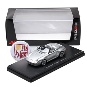SCHUCO 1:43 Porsche 911 (993) Speedster silver Resin Model Car 450891800
