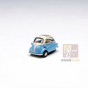 SCHUCO 1:64 BMW Isetta Export, blue beige Diecast Model Car 452012000