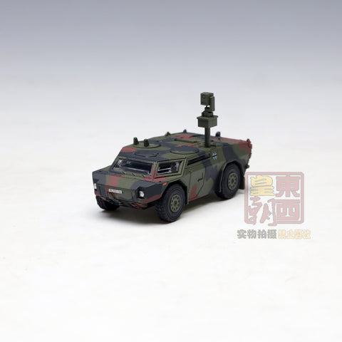 "SCHUCO 1:87 KraussMaffei Fennek scout car ""Bundeswehr"" camouflaged Diecast Model Car 452624800"