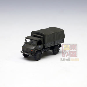 "SCHUCO 1:87 Mercedes Benz Unimog S 404 pick up tarpaulin ""Bundeswehr"" Diecast Model Car 452625000"