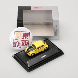 SCHUCO 1:87 Volkswagen Beetle yellow black 452633400
