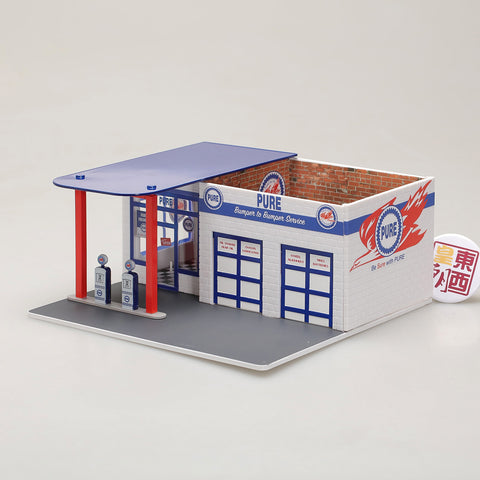 GreenLight 1:64 Mechanic s Corner Series 3 - Vintage Gas Station Pure Oil 57031