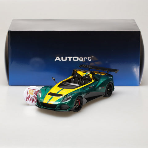 AUTOart 1:18 LOTUS 3-ELEVEN (GREEN W/ YELLOW ACCENTS) 75392