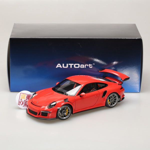 AUTOart 1:18 PORSCHE 911(991) GT3 RS (LAVA ORANGE/DARK GREY WHEELS) 78168