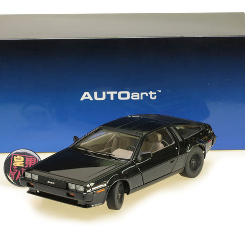 AUTOart 1:18 DELOREAN DMC-12 (METALLIC BLACK) Diecast Model Car 79917