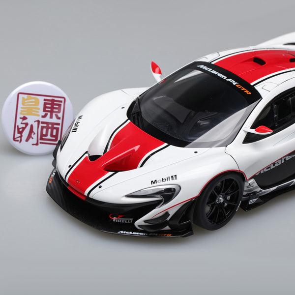 AUTOart 1:18 McLAREN P1 GTR (GLOSS WHITE/RED STRIPES) 81541