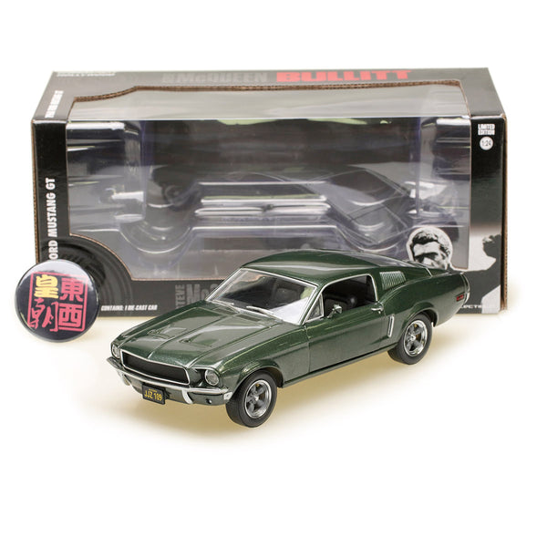 GreenLight 1:24 Bullitt (1968) - 1968 Ford Mustang GT Fastback Diecast Model Car 84041